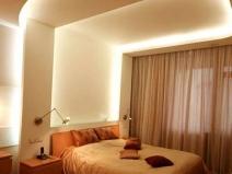 Спальня с гипсокартонным потолком