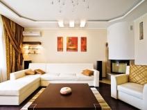 Потолки из гипсокартона фото гостиная