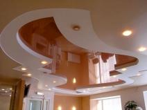 Гипсокартонные потолки фото