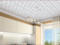 Плитка на потолке в кухне