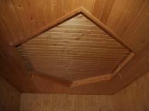 дизайн потолка в бане