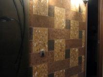 Оригинальный дизайн пробкового покрытия стен