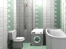 красивая раскладка плитки в ванной комнате