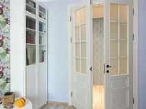 Межкомнатные распашные двери с остеклением