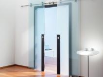 подвесные стеклянные раздвижные двери