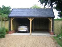 Двухместный гараж простой конструкции