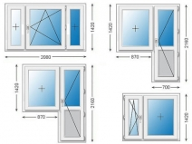 Размеры дверных и оконных блоков
