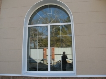 Арочное пластиковое окно стандартного размера