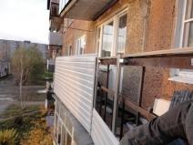 Замена обшивки балкона своими руками