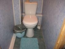 Небольшой туалет после ремонта, удобный бюджетный вариант