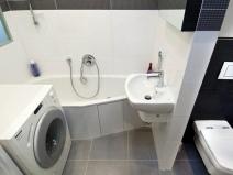 Вариант создания совмещенного санузла после объединения ванной и туалета