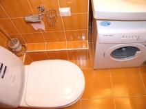 Маленький туалет, размещение стиральной машины