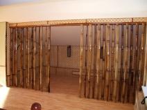 Бамбукоые шторы в проеме