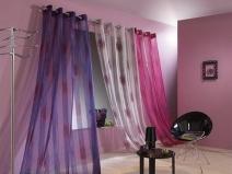 цветные шторы на люверсах