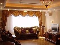 шторы с драпировкой в гостиную
