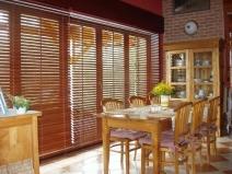 деревянные кухонные шторы