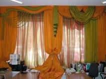 многоуровневые шторы в зал