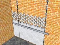 схема оштукатуривания стены по маякам