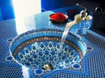 смеситель для умывальника в марокканском стиле