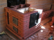 Строим печку из кирпича: в процессе