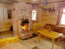 Камин в дачном доме - это очень уютно!