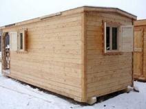 строительная бытовка деревянная