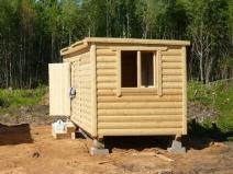 Строительство небольшой деревянной бытовки
