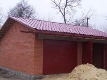 строим кирпичный гараж своими руками