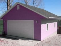 как построить гараж с мансардой