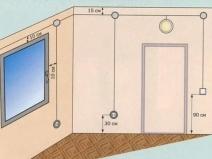 План квартиры в панельном доме с проводкой