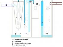 схема внутреннего устройства септика