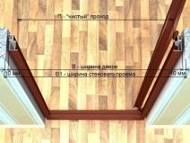 схема установки задвижной двери
