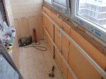 Вариант утепления балкона