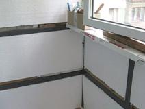 Утепляем балкон пенапластом