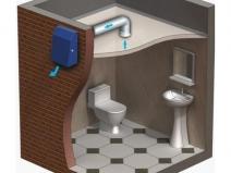 Устройство вентиляции в туалете