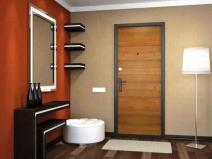 дверь металлическая входная с отделкой из дерева