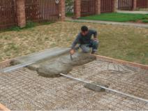 Подготовка площадки для укладки плитки