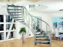 Металлические винтовые лестницы на второй этаж