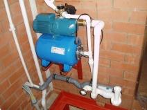 Подключение насосной станции к водопроводу