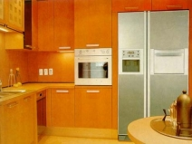 Встроенный холодильник большого размера