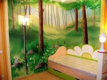 Художественная роспись стен в детской комнате