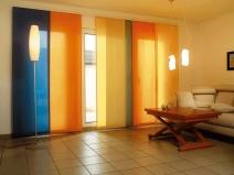 цветные шторы в японском стиле