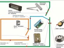 схема работы электромагнитного замка для калитки