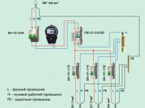 схема защиты электросети